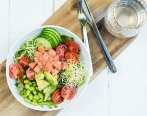Sashimi bowl zalm avocado