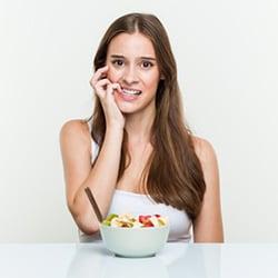 te weinig eten